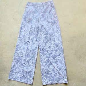 🍄2/$20 NY&Co palazzo pants lace print Sz XS